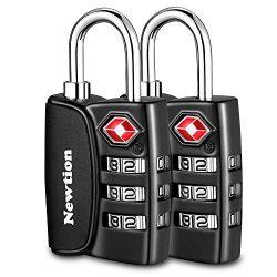 Newtion TSA Approved Luggage Locks 2Pack,Open Alert Indicator,3 Digit Combination Padlock Codes  ...