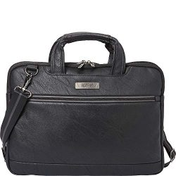 Kenneth Cole Reaction ProTec Faux Pebbled Leather Slim 16″ Laptop Business Briefcase / Tab ...