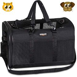 Soft-Sided Pet Travel Carrier,Airline Approved Pet Carriers for Medium Big Dog and Cat,Collapsib ...