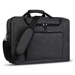 Laptop Bag 17.3 Inch Laptop Briefcase with Organizer, Expandable Large Business Messenger Comput ...