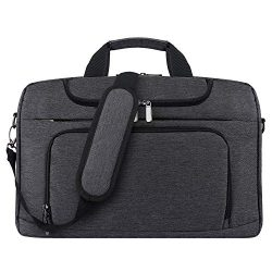 Bertasche Laptop Shoulder Bag 17-17.3 inch Water-Resistant Bussiness Messenger Bag for Work Coll ...