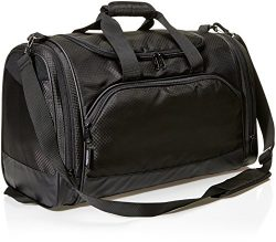 AmazonBasics Medium Lightweight Durable Sports Duffel Gym and Overnight Travel Bag – Black