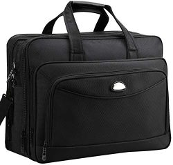 17 inch Laptop Bag, Briefcase for Men, Expandable Large Computer Bags, Water Resistant Business  ...