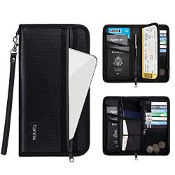 Family Passport Holder RFID Travel Wallet Waterproof & Fireproof Tickets Itinerary Document  ...