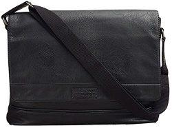 Kenneth Cole REACTION Laptop Messenger Bag, Black, One Size