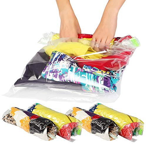 12 Medium & Large Ziplock Storage Bags for Clothes – Travel Accessories – Space  ...