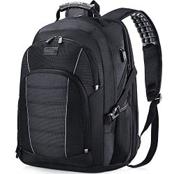 Laptop Backpack, Extra Large 17 Inch Business Travel Backpack with USB Charging Port Earphone Ho ...