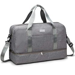 HOKEMP Gym Bag For Women Men Sport Duffel Bag with Shoes Compartment, Swim Bag Travel Tote Lugga ...