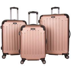Kenneth Cole Reaction Renegade 3-Piece Lightweight Hardside Expandable 8-Wheel Spinner Travel Lu ...