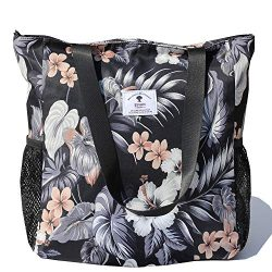 Original Floral Water Resistant Large Tote Bag Shoulder Bag for Gym Beach Travel Daily Bags Upgr ...
