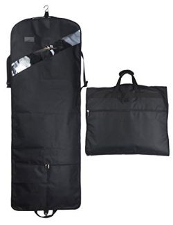 "52"" Extra Long Dress Garment Bag, Premium & Breathable Tear-resistant Hanging Suit Cov ..."