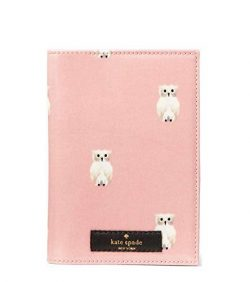 Kate Spade New York Daycation Painterly Owl Passport Holder – Rose Jade