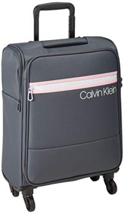 Calvin Klein 21″ Softside Spinner Luggage with TSA Lock, Greystone