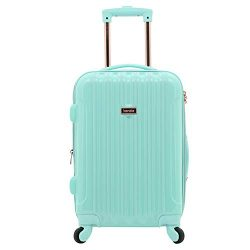 "kensie 20″ ""Alma"" Carry-On TSA-Lock Spinner Luggage, Opal"