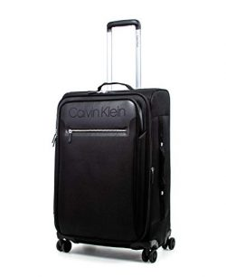 Calvin Klein 25″ Expandable Softside Spinner Luggage with TSA Lock, Black