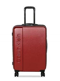 Calvin Klein 28″ Hardside Spinner Luggage with TSA Lock, Red
