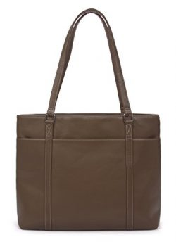 Overbrooke Classic Laptop Tote Bag, Dark Brown – Vegan Leather Womens Shoulder Bag for Lap ...