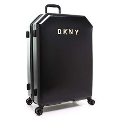 DKNY Hardside Spinner Luggage with TSA Lock, Black