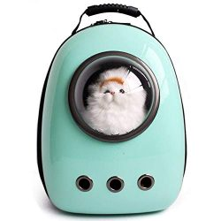 LEMONDA Portable Pet Travel Carrier,Space Capsule Pet Cat Bubble Backpack,Waterproof Traveler Kn ...