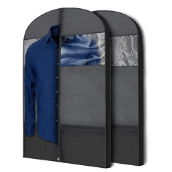 Plixio Gusseted Garment Bags Suit Bag for Travel and Clothing Storage of Dresses, Dress Shirts,  ...
