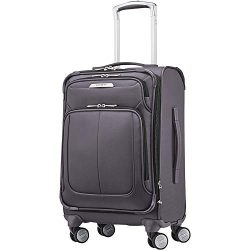 Samsonite SoLyte DLX Softside Luggage, Mineral Grey, Carry-On