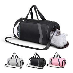 LBLA Small Gym Bag with Shoes Compartment for Men Women, Waterproof Sport Bag Lightweight Travel ...