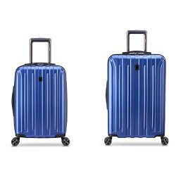 DELSEY Paris Titanium DLX 2-Piece Spinner Luggage Set (Carry-on & 25″), Blue