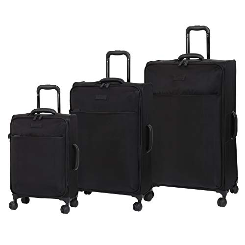 it luggage Lustrous Expandable Lightweight 3 Piece Set, Black