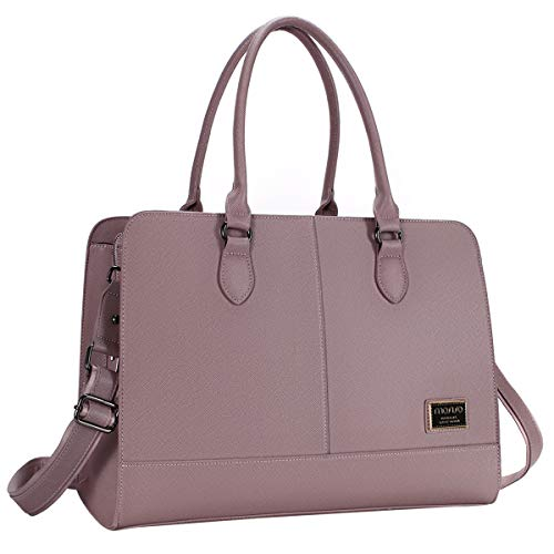 MOSISO Women Laptop Tote Bag (Up to 15.6 Inch) 3 Layer Compartments, Purple