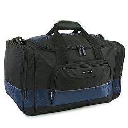 Perry Ellis 22″ Business Duffel Bag, Black/Navy