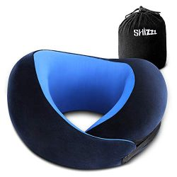 Shizzz Travel Pillow, Neck Pillow for Airplane Travel Memory Foam Chin Protective Pillow Support ...