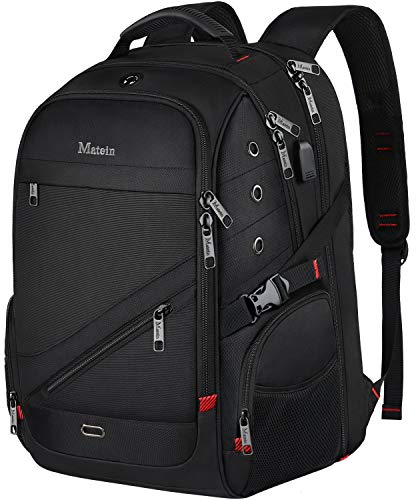 MATEIN Travel Laptop Backpack, 17 inch Waterproof Large Backpack for Men, Durable TSA Friendly T ...