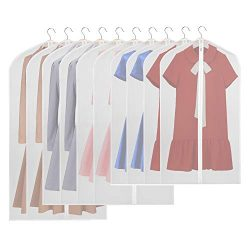 KEEGH Hanging Garment Bags Lightweight Moth-Proof Suit Covers Dress Protector Bag for Storage Se ...