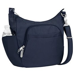 Travelon Anti-Theft Cross-Body Bucket Bag, Midnight, One Size – 42757 360