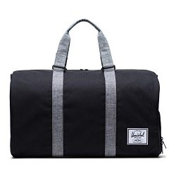 Herschel Novel Duffel Bag, Black/Raven Crosshatch, Classic 42.5L