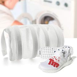 SOOHAO Shoes Wash Bags with Bumper Protectors, Shoes Laundry Bags for Washing Machine, Mesh Laun ...
