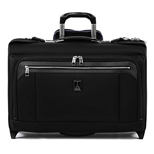 Travelpro Luggage Platinum Elite 22″ Carry-on Rolling Garment Bag, Suitcase, Shadow Black