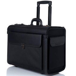 Alpine Swiss Rolling 17″ Laptop Briefcase on Wheels Attache Lawyers Case Legal Size Nylon  ...