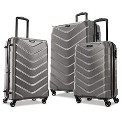 American Tourister Arrow Expandable Hardside Luggage Set 3-Piece (21/24/28) with Spinner Wheels, ...
