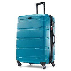 Samsonite Omni PC Hardside Luggage, Caribbean Blue, Checked-Large