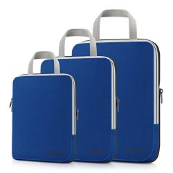 Gonex Packing Cubes, Travel Organizers Set of 3 Upgraded L+M+S(Deep Blue)