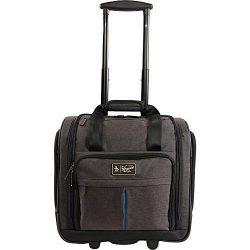 ORIGINAL PENGUIN Men's Ethan Wheeled Under The Seat Carry On Bag, Black Crosshatch