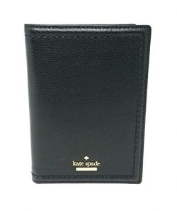Kate Spade New York Women's Imogene Patterson Drive Leather Passport Wallet (Black)