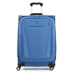 Travelpro Maxlite 5 Lightweight Checked Medium 25″ Expandable Softside Luggage Azure Blue, ...
