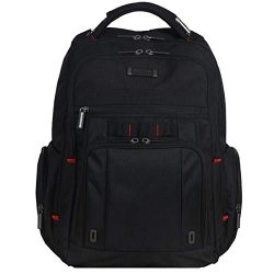 Kenneth Cole Reaction Dual Compartment with USB Port (RFID) Laptop Backpack, Black, One Size