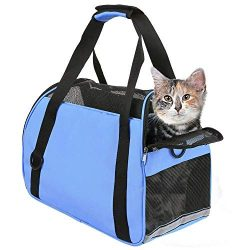 TIYOLAT Pet Carrier Bag, Airline Approved Duffle Bags, Pet Travel Portable Bag Home for Little D ...
