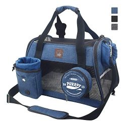 Pet Carrier Airline Approved Cat Carriers Dog Carrier for Small Medium Pets, 15 lbs Small Dog Ca ...