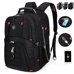 SOLDIERKNIFE Extra Large Durable 50L Travel Laptop Backpack School Backpack Travel Backpack Coll ...