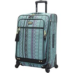 Steve Madden Luggage Large 28″ Expandable Softside Suitcase With Spinner Wheels (28in, Leg ...