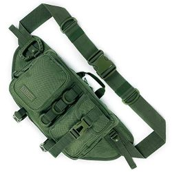 Fitdom Tactical Sling Bag for Men. Made from Heavy Duty Nylon & Built Tough for Outdoor. Als ...
